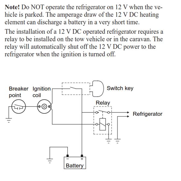 Dometic fridge wiring