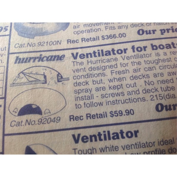 Hurricane Vent - paper version.