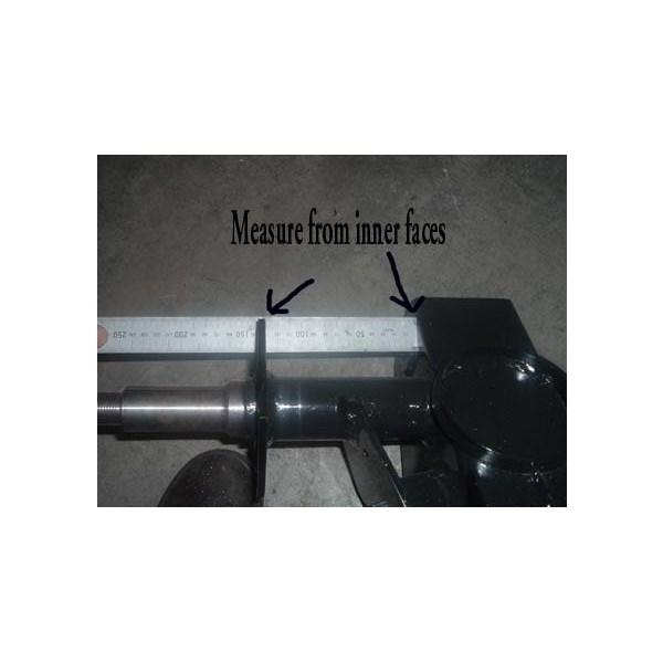 Where to measure Tvan axle length