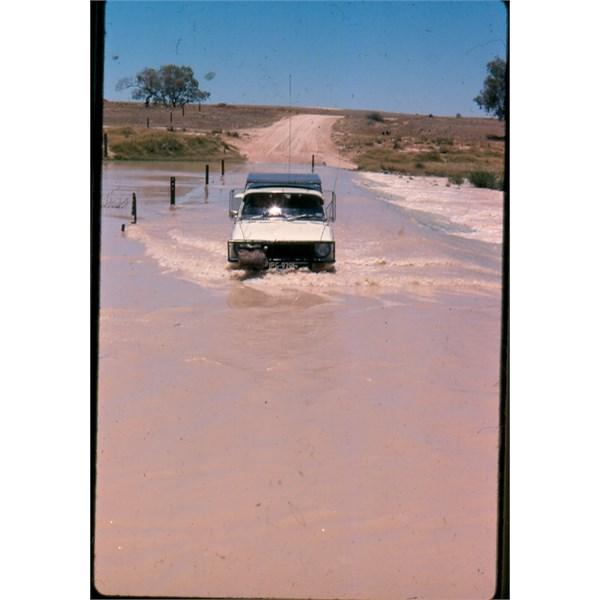 Crossing Cooper Creek 1977