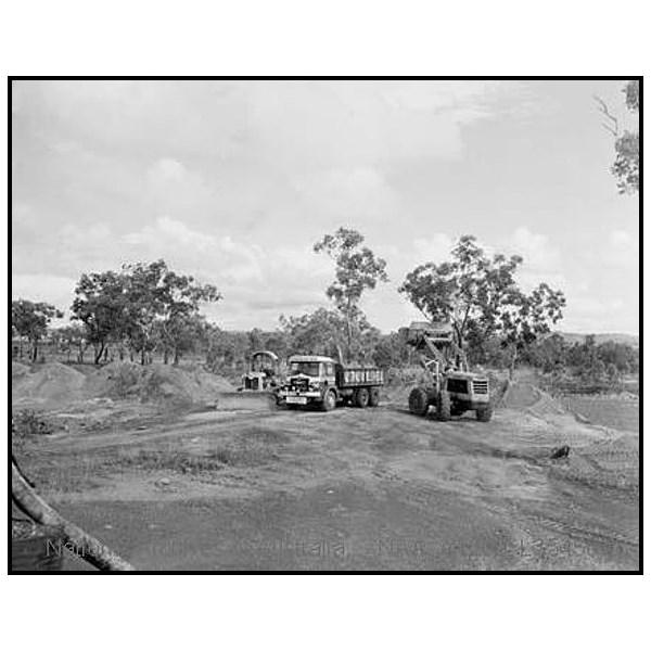 A roadmaking plant on the 956 mile Stuart Highway, near Katherine, NT
