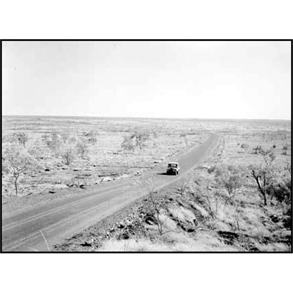 The Stuart Highway near Renner Springs, NT, 1958
