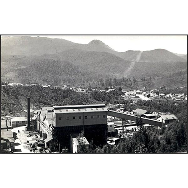 Undated postcard of the Rosebery mine