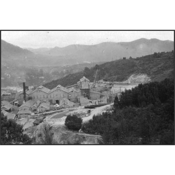 Rosebery Lead-Zinc Mine on the west coast of Tasmania 1955