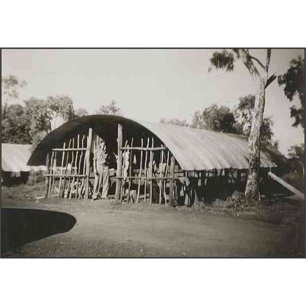 Sleeping huts at Larrimah staging camp