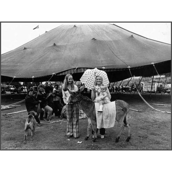 Phyllis Ashton and grandchild at Ashtons Circus 1975