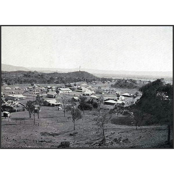 Elevated view of the mining town of Chillagoe 1924
