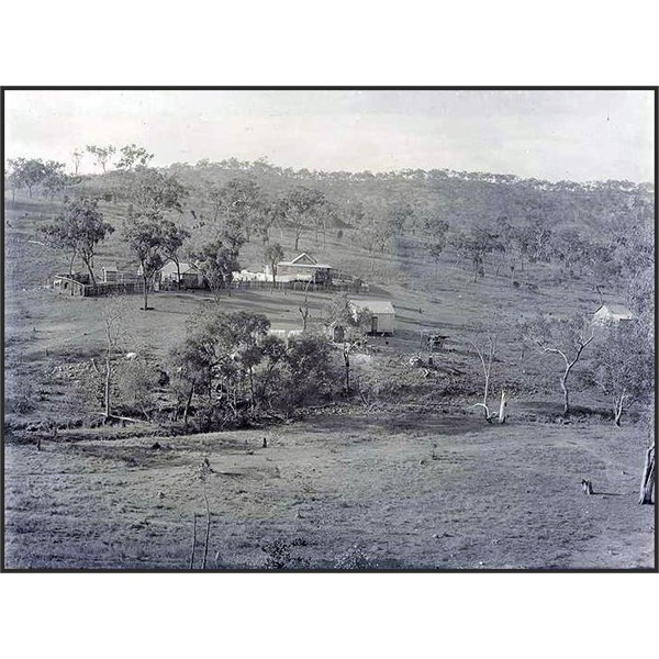 Griffith's mine from the hill close to the Linedale's house