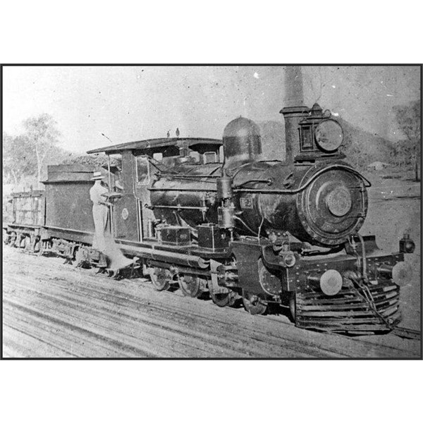 Locomotive no. 3 of the Chillagoe Railway was the first engine on the Etheridge line