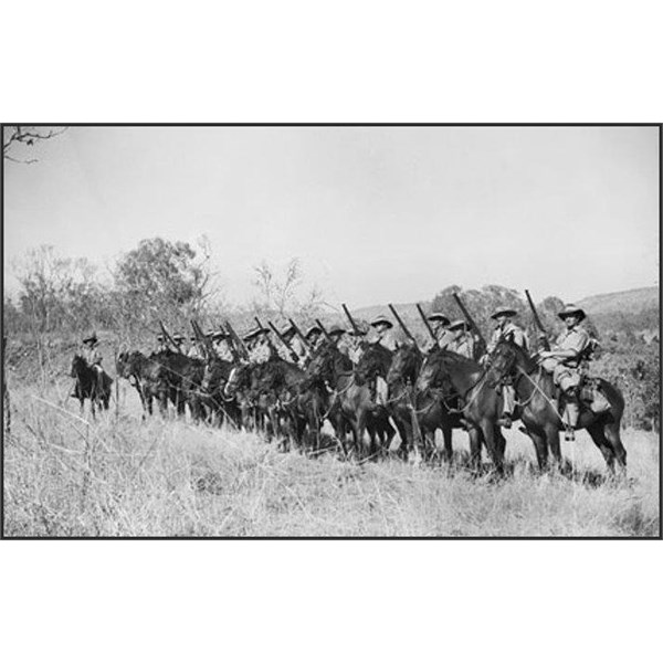 Troopers of the North Australia Observer Unit during a morning parade in October 1943