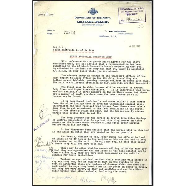North Australia Observer Unit Page 1
