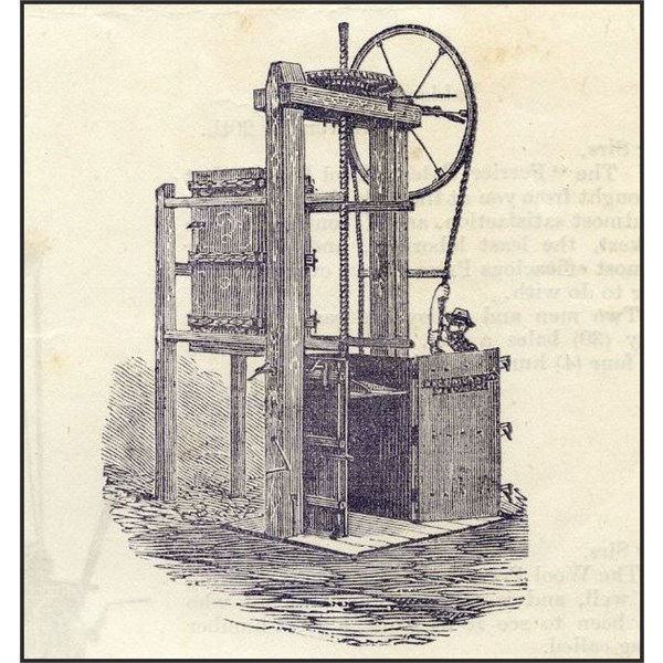Robinson & Sons' Screw wool press