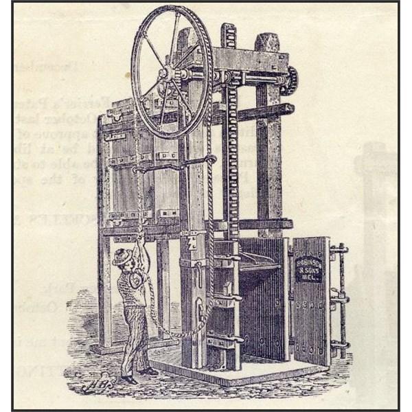 Robinson & Sons' Geared Wool Press