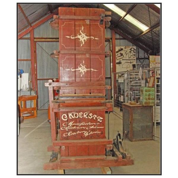 Koerstz wool press at Mudgee Historical Society