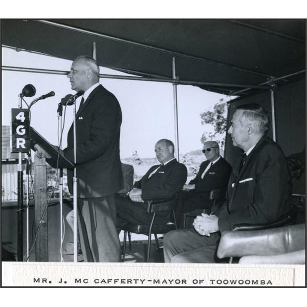 The Mayor of Toowoomba, Mr Jack McCafferty