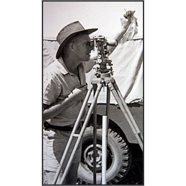Len Beadell and his theodolite