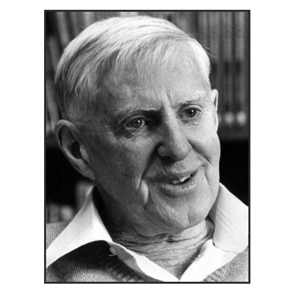 Surveyor Len Beadall in later life.