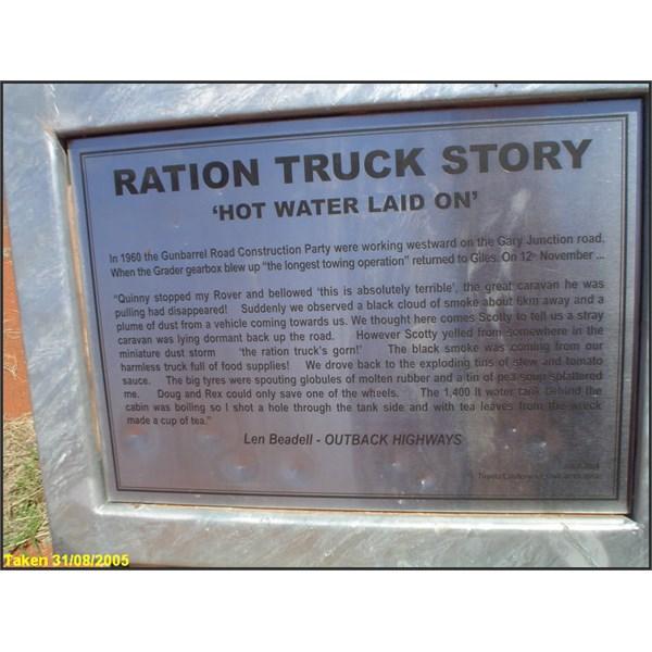 Ration Truck Info