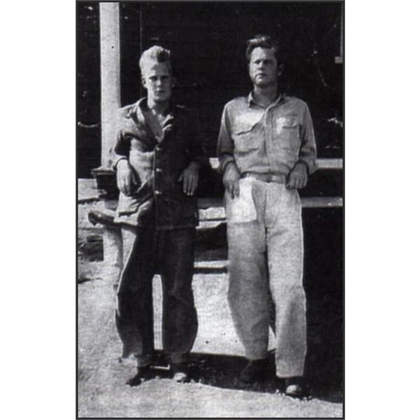 Wilson & Crossan recovering in Burketown, Dec 1942