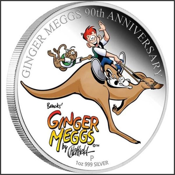 2011 Australia Ginger Meggs Celebrating 90years 1oz Silver Proof $1 Coin