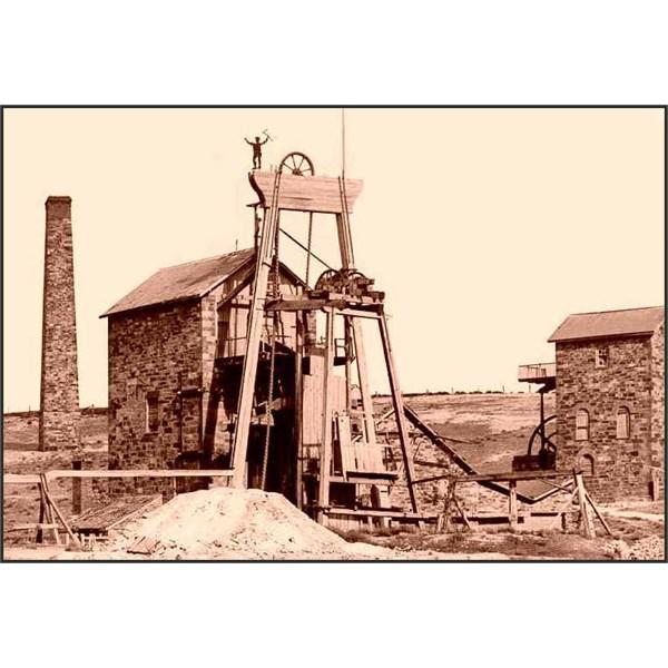 mine buildings at the Burra copper mine
