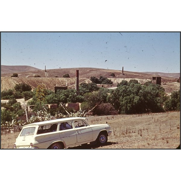 My Dad's 1963 EJ Holden at Burra Mines mid 1960s