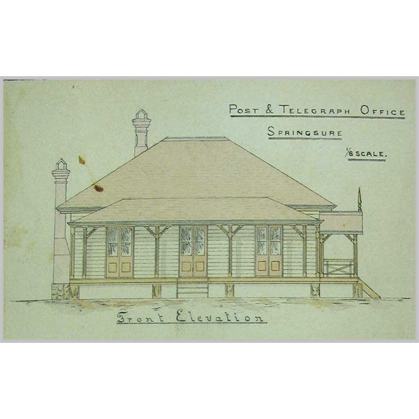 Springsure Post and Telegraph Office -1884