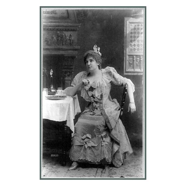 Nellie Melba in costume, circa 1896
