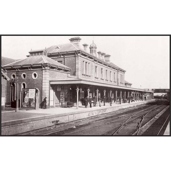 Newcastle Railway Station circa 1890