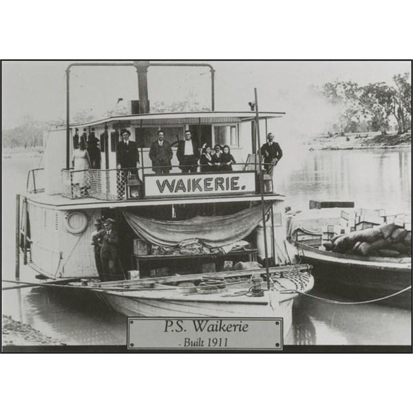 Paddle steamer 'Waikerie'