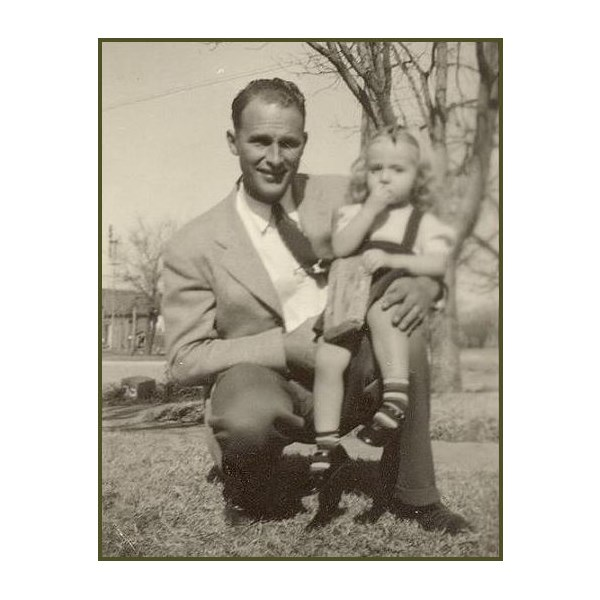Bill McDaniel with his niece Sandra, his favourite little person.
