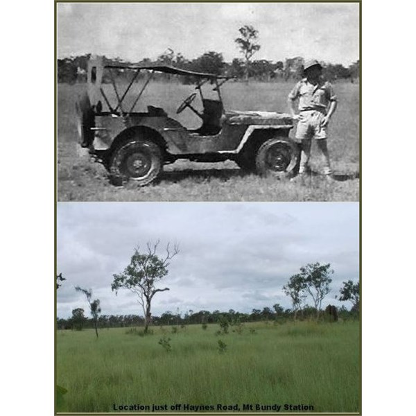 The Jeep on Mt Bundy Station for the Experiment