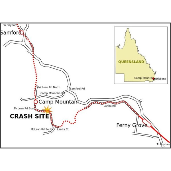 Railway Map Showing location of Camp Mountain