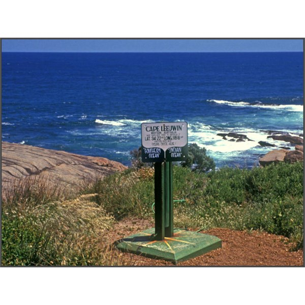 The point at Cape Leeuwin where the Indian Ocean meets the Great Southern Ocean.