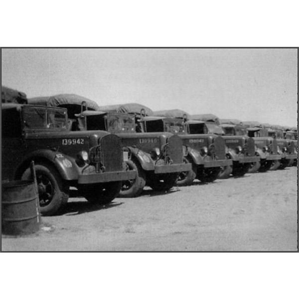 Mack Diesels at Barrow Creek during WW2
