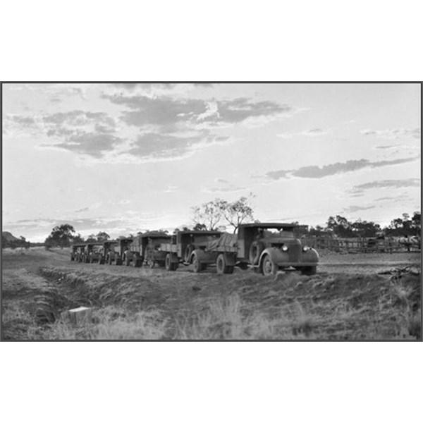 Army Convoy at Barrow Creek