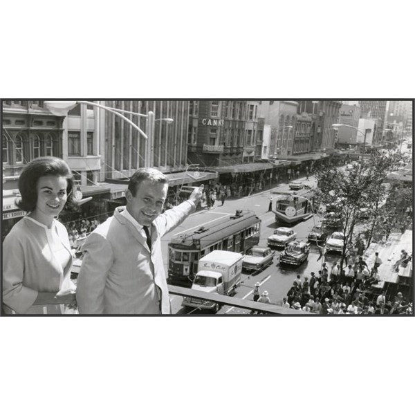 Johnny O'Keefe and first wife Marianne at Melbourne Town Hall, 1962