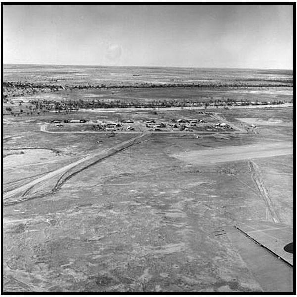 Aerial view of Birdsville 1966