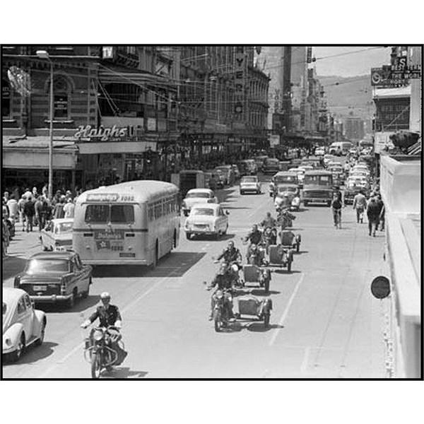 Looking East along Rundle Street, Adelaide 1960