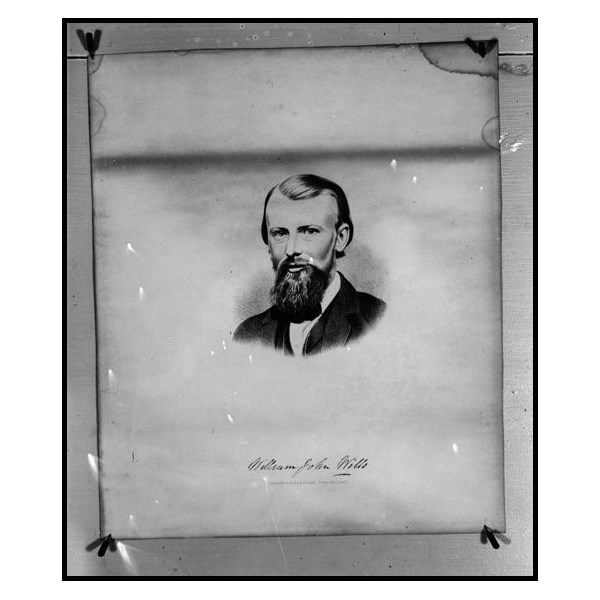 sketch of William John Wills of the Bourke and Wills Expedition