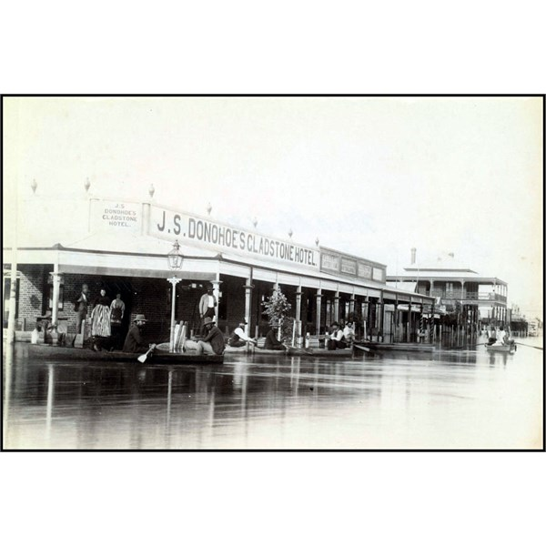 Mitchell Street, Bourke, in flood that occurred in 1890