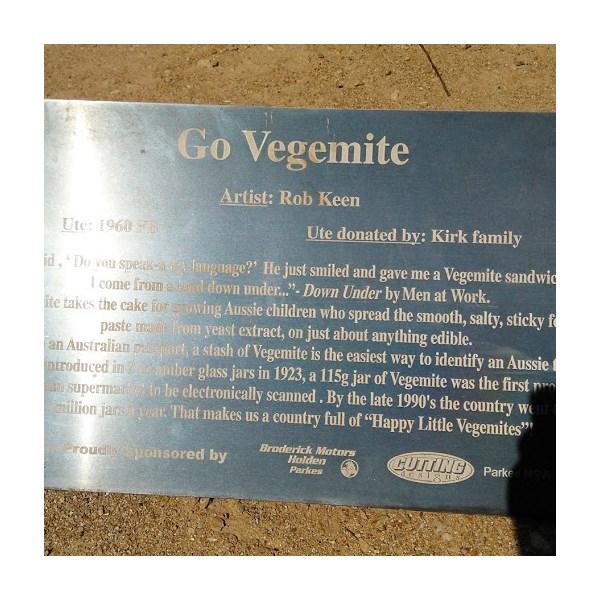 Go Vegemite Plaque