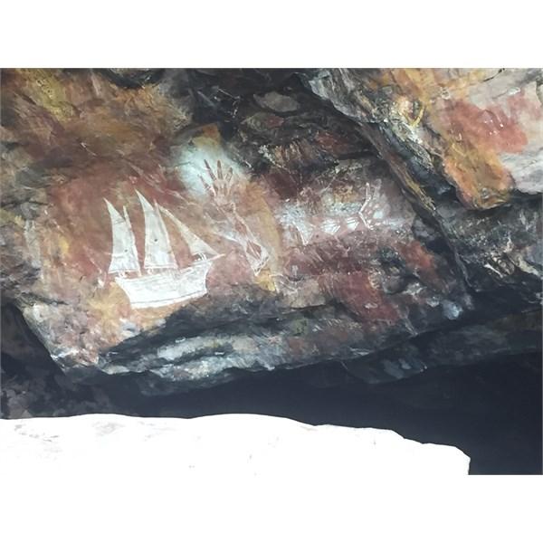 Cave art in Arnhem land