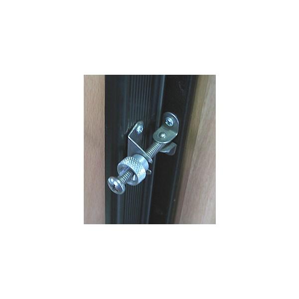 Stainless fridge door catch