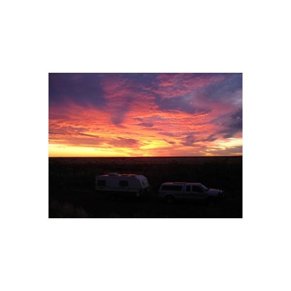 Tanami camp sunset