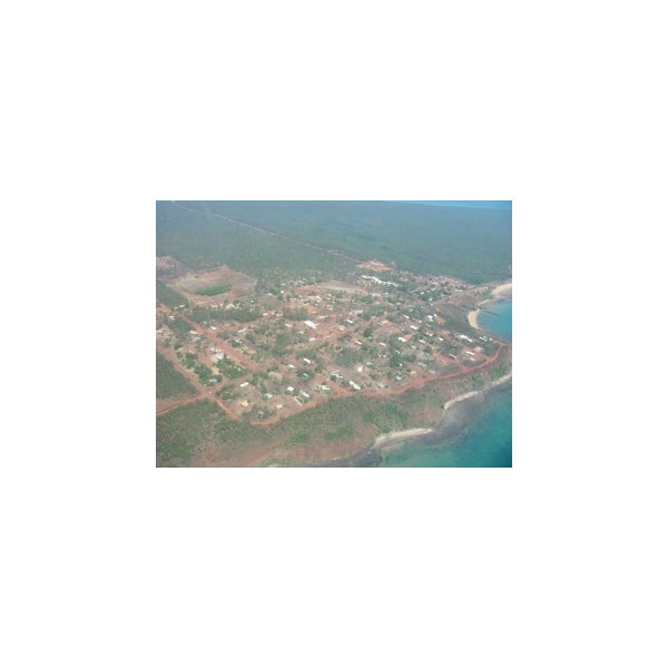 Flying over Galiwinku - town on Elcho Is