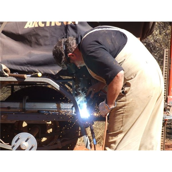 Rewelding the guards and chassis for the third time - Sandy Blight Junction Track