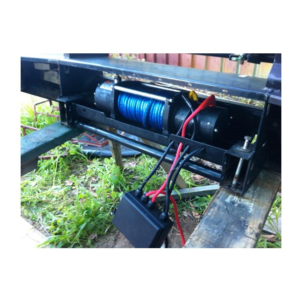 The winch in place - just control box to attached to front grill work