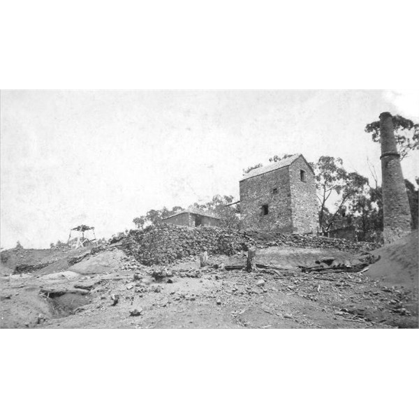 The Cadia Engine House and mine site in about 1930