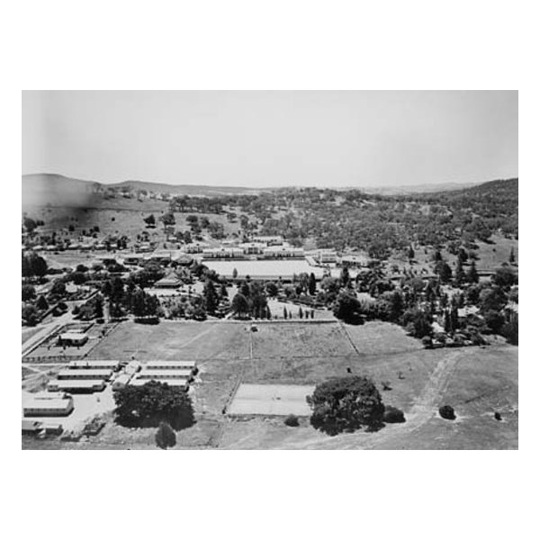 Aerial view of the Royal Military College at Duntroon 1946